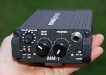The Sound Devices MM1 is fairly compact and lightweight. A Portabrace-style casewould be nice to keep the unit from getting dings, though it's ruggedly built