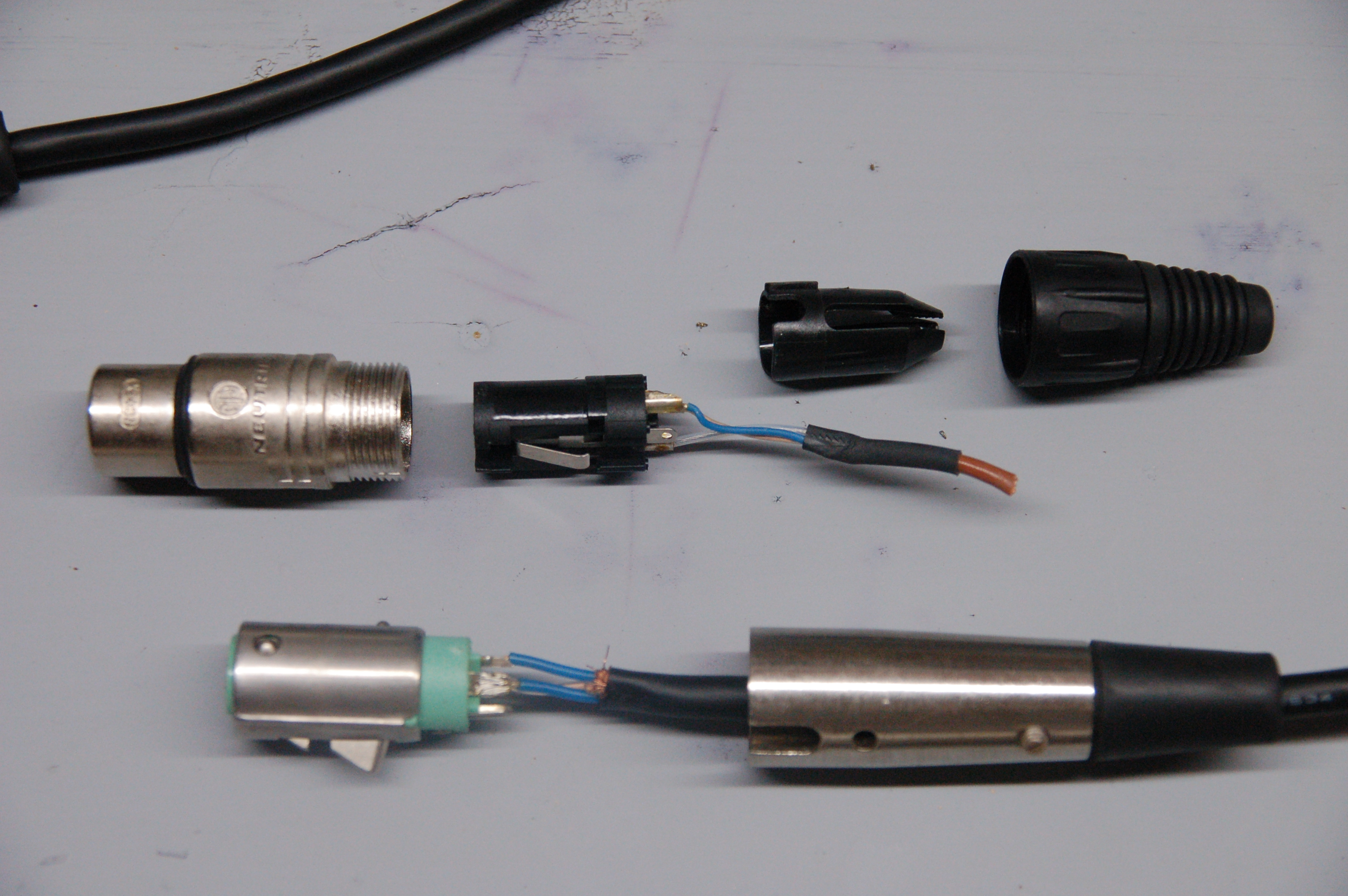 Making Your Own Cables Bgilbertsound Switchcraft Input Jack Wiring Diagram Audio Connectors I Prefer The Neutrik Because Connector Can Be Disassembled In Field Without Tools Require A