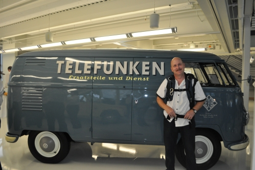 The coolest van ever, a 1951 VW Type 2 Commercial, with Telefunken markings.