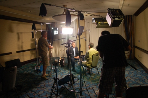 Al Madrigal interviews State Rep Jason Powell for The Daily Show.