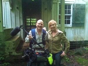 Brian Gilbert with Kari Byron, before all the rain started.