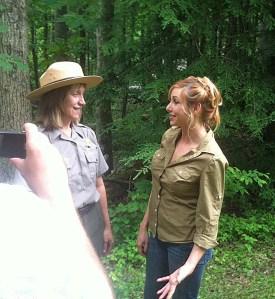 Kari Byron with park ranger Becky Nichols