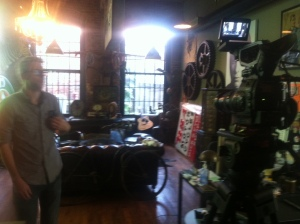 At Antique Archaeology in Nashville TN (Before the doors were opened!)