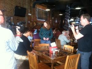 Bar scene interview